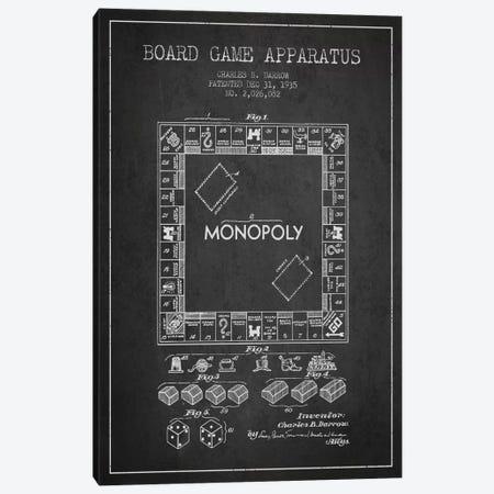 Monopoly Charcoal Patent Blueprint Canvas Print #ADP121} by Aged Pixel Canvas Art