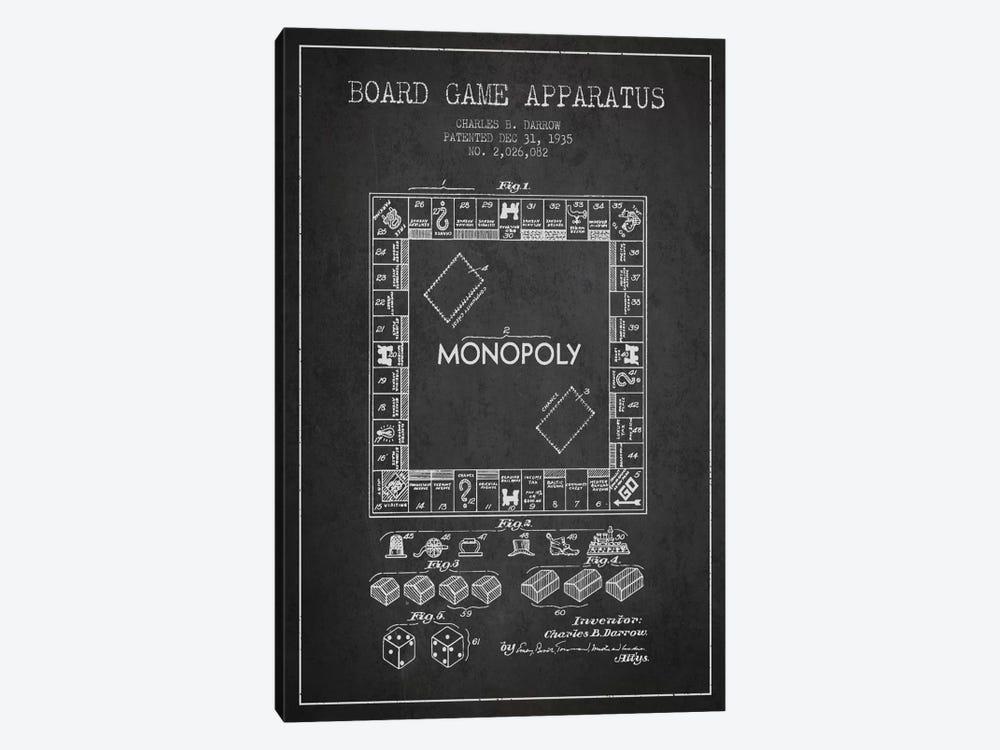 Monopoly Charcoal Patent Blueprint by Aged Pixel 1-piece Canvas Print