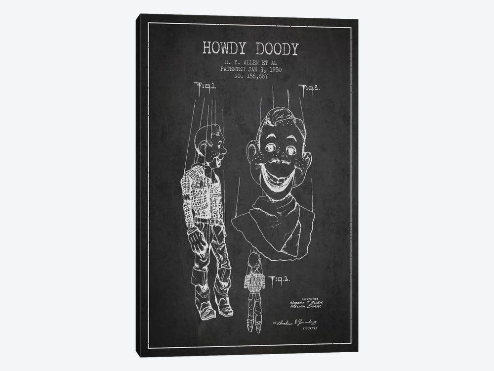Howdy Doody Dark Patent Blueprint by Aged Pixel 1-piece Canvas Art
