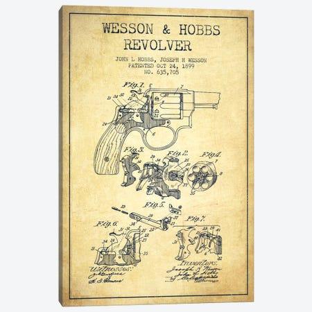 Wesson & Hobbs Revolver Vintage Patent Blueprint Canvas Print #ADP1338} by Aged Pixel Canvas Artwork