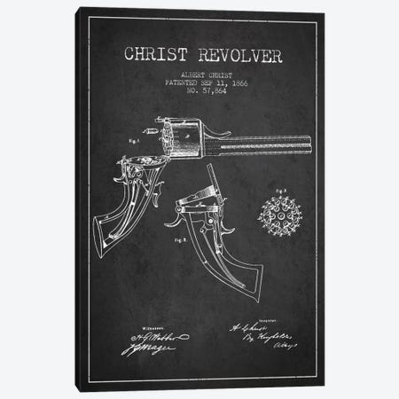 Christ Revolver Charcoal Patent Blueprint Canvas Print #ADP1339} by Aged Pixel Canvas Art