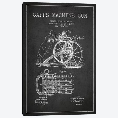 Capps Cha Gun Charcoal Patent Blueprint Canvas Print #ADP1359} by Aged Pixel Canvas Wall Art