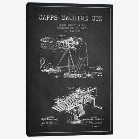 Capps M Gun Charcoal Patent Blueprint Canvas Print #ADP1364} by Aged Pixel Canvas Wall Art