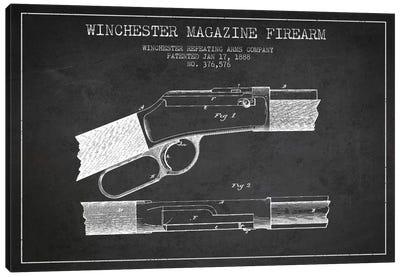 Winchester Fire Arm Charcoal Patent Blueprint Canvas Art Print