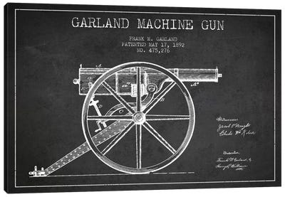Garland Gun Charcoal Patent Blueprint Canvas Art Print