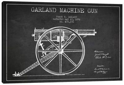 Garland Gun Charcoal Patent Blueprint Canvas Art Print