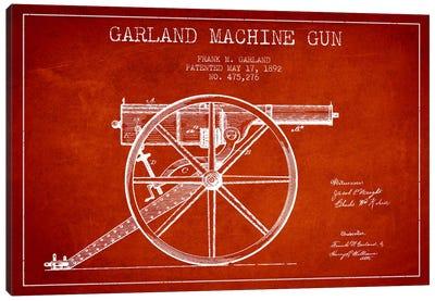 Garland Gun Red Patent Blueprint Canvas Art Print