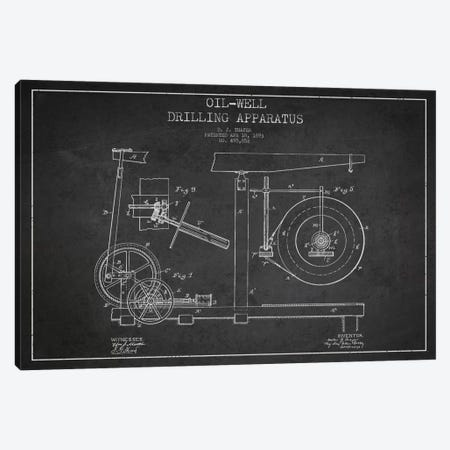 Oil Apparatus Charcoal Patent Blueprint Canvas Print #ADP1414} by Aged Pixel Canvas Artwork