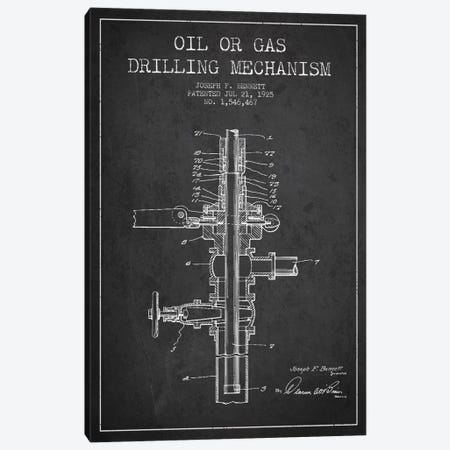 Oil Gas Mechanism Charcoal Patent Blueprint Canvas Print #ADP1434} by Aged Pixel Canvas Art