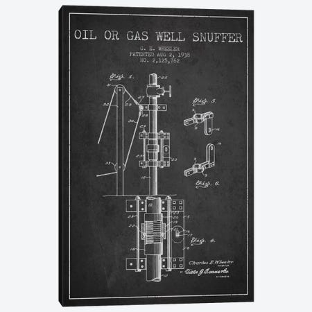 Gas Oil Snuffer Charcoal Patent Blueprint Canvas Print #ADP1484} by Aged Pixel Canvas Print