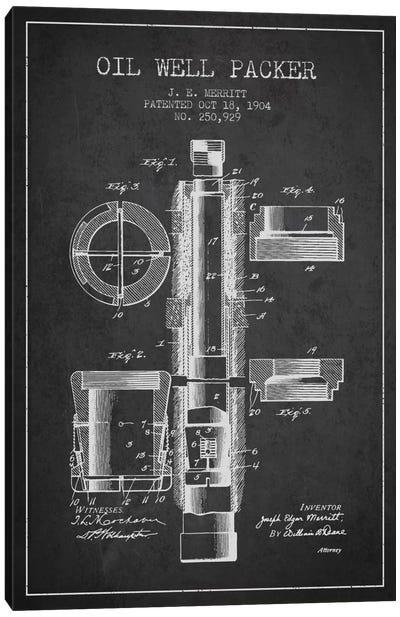 Oil Packer Charcoal Patent Blueprint Canvas Art Print