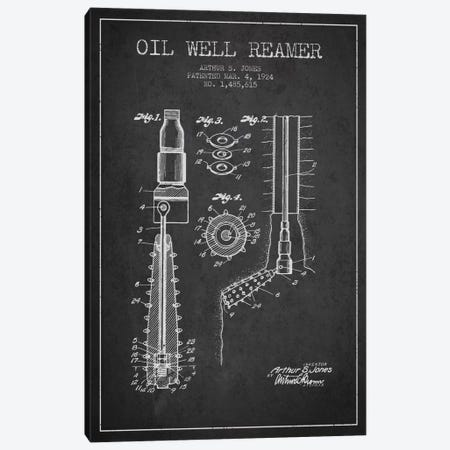 Oil Well Reamer Charcoal Patent Blueprint Canvas Print #ADP1534} by Aged Pixel Canvas Print