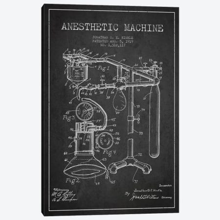 Anesthetic Machine Charcoal Patent Blueprint Canvas Print #ADP1549} by Aged Pixel Art Print