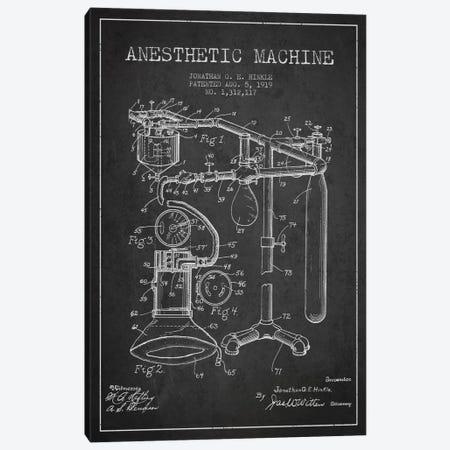 Anesthetic Machine Charcoal Patent Blueprint Canvas Print #ADP1549} by Aged Pixel Art Print