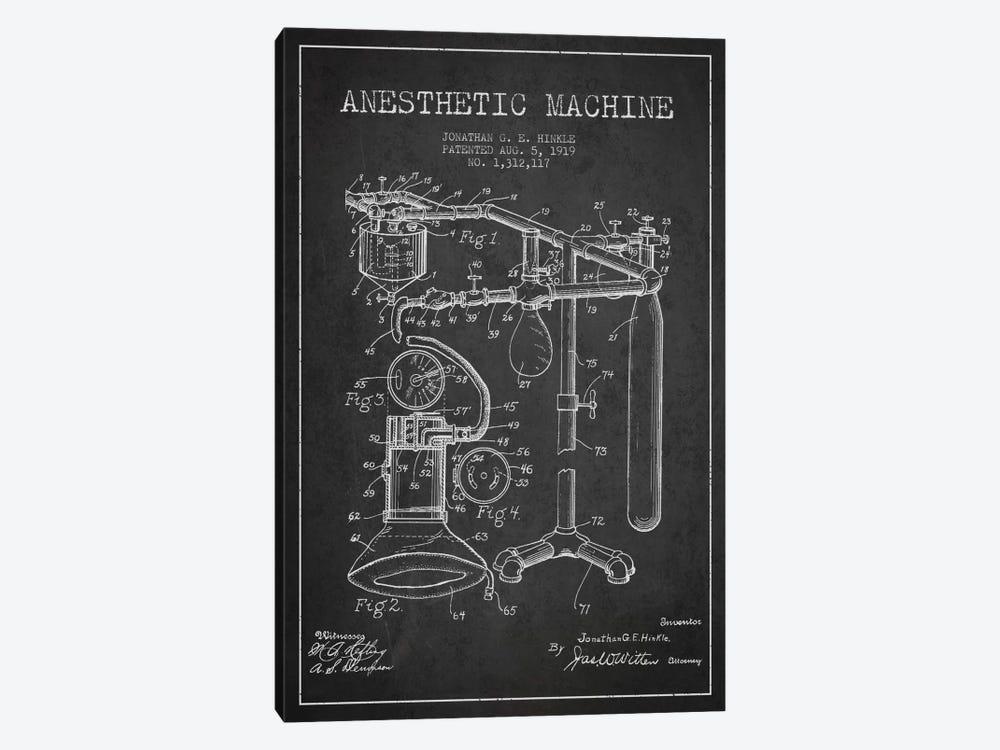 Anesthetic Machine Charcoal Patent Blueprint by Aged Pixel 1-piece Canvas Art Print
