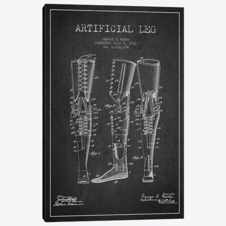Artificial Leg Charcoal Patent Blueprint Canvas Print #ADP1564} by Aged Pixel Canvas Artwork