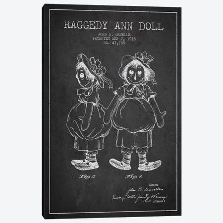 Raggedy Ann Dark Patent Blueprint Canvas Print #ADP156} by Aged Pixel Canvas Art