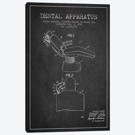 Dental Apparatus Charcoal Patent Blueprint Canvas Print #ADP1579} by Aged Pixel Canvas Wall Art