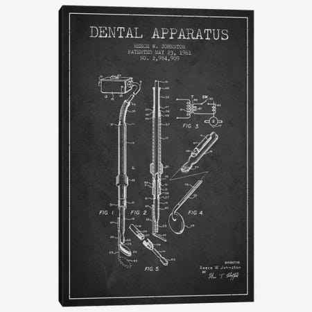 Dental Apparatus Charcoal Patent Blueprint 3-Piece Canvas #ADP1584} by Aged Pixel Canvas Artwork