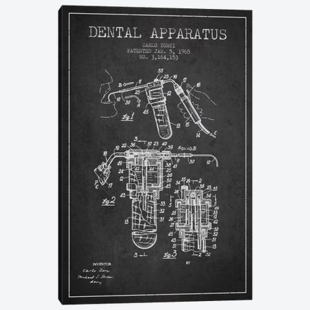 Dental Apparatus Charcoal Patent Blueprint Canvas Print #ADP1589} by Aged Pixel Art Print