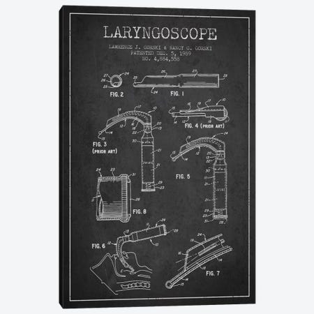 Laryngoscope Charcoal Patent Blueprint Canvas Print #ADP1599} by Aged Pixel Canvas Artwork