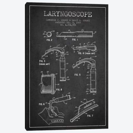Laryngoscope Charcoal Patent Blueprint Canvas Print #ADP1599} by Aged Pixel Canvas Artwork