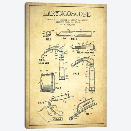 Laryngoscope Vintage Patent Blueprint Canvas Print #ADP1603} by Aged Pixel Canvas Wall Art