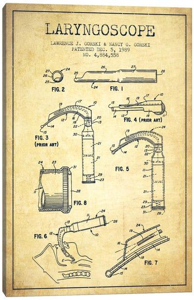 Laryngoscope Vintage Patent Blueprint Canvas Art Print