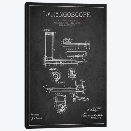Laryngoscope Charcoal Patent Blueprint Canvas Print #ADP1604} by Aged Pixel Canvas Art Print