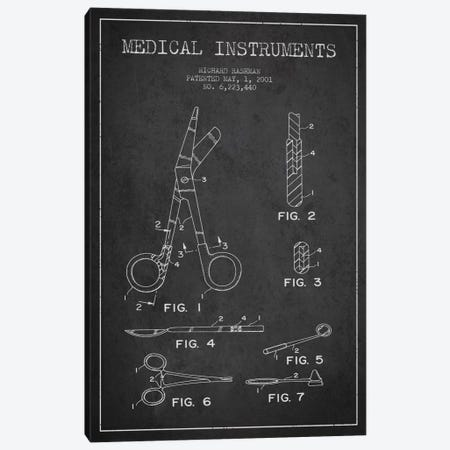 Medical Instruments Charcoal Patent Blueprint Canvas Print #ADP1609} by Aged Pixel Canvas Artwork