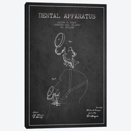 Dental Apparatus Charcoal Patent Blueprint Canvas Print #ADP1614} by Aged Pixel Canvas Wall Art