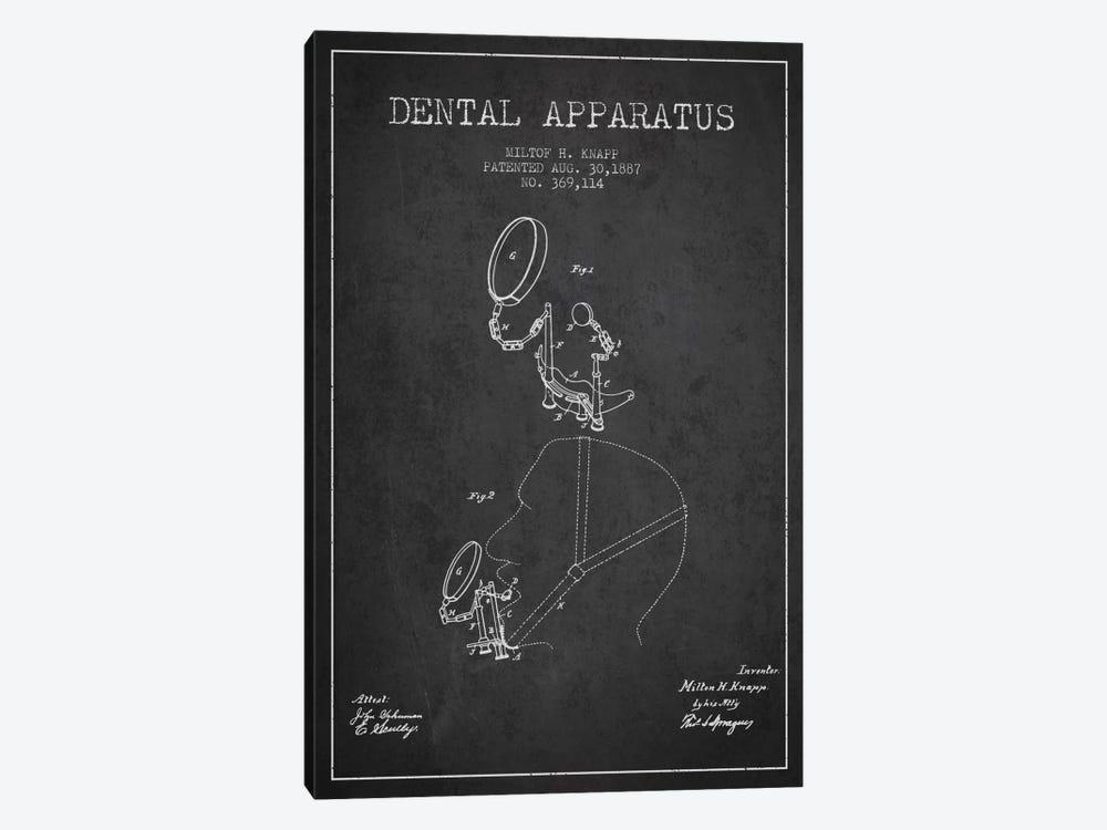 Dental Apparatus Charcoal Patent Blueprint by Aged Pixel 1-piece Canvas Art Print