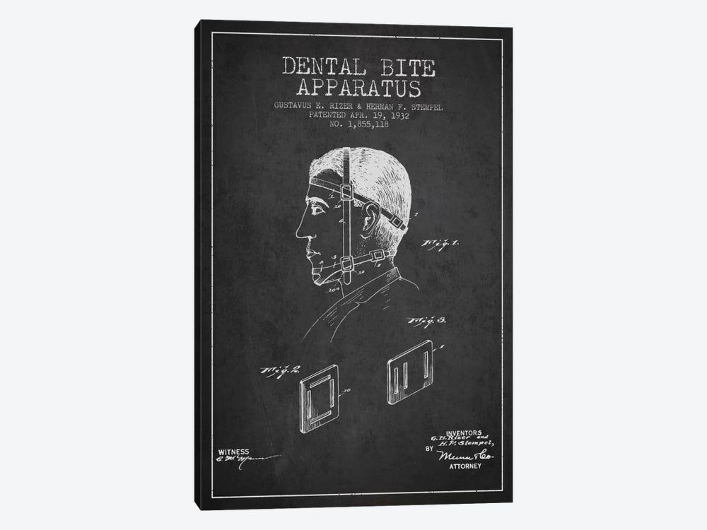Dental Bite Charcoal Patent Blueprint by Aged Pixel 1-piece Canvas Art