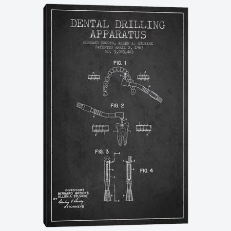 Dental Drilling Charcoal Patent Blueprint Canvas Print #ADP1629} by Aged Pixel Canvas Wall Art