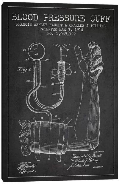 Blood Pressure Charcoal Patent Blueprint Canvas Art Print