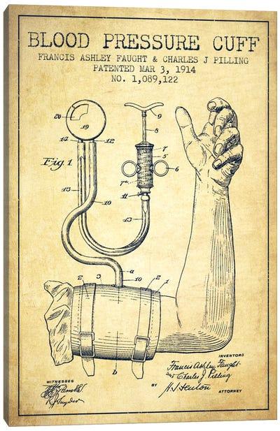Blood Pressure Vintage Patent Blueprint Canvas Art Print