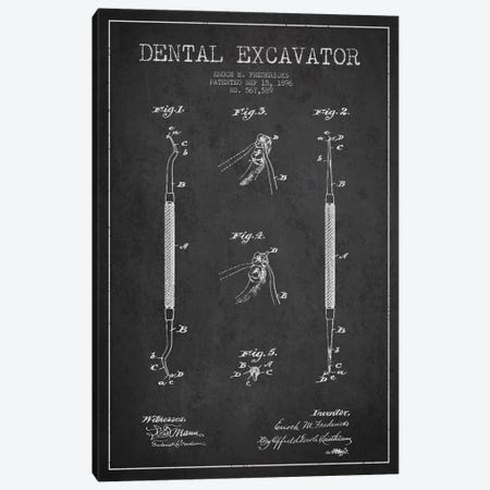 Dental Charcoal Patent Blueprint Canvas Print #ADP1679} by Aged Pixel Canvas Print