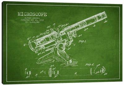Microscope Green Patent Blueprint Canvas Print #ADP1700