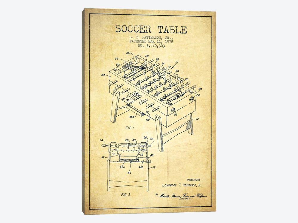 Soccer Table Vintage Patent Blueprint by Aged Pixel 1-piece Art Print