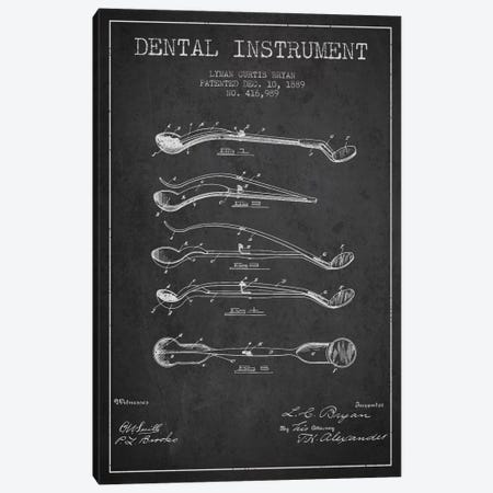 Dental Instrument Charcoal Patent Blueprint Canvas Print #ADP1714} by Aged Pixel Art Print