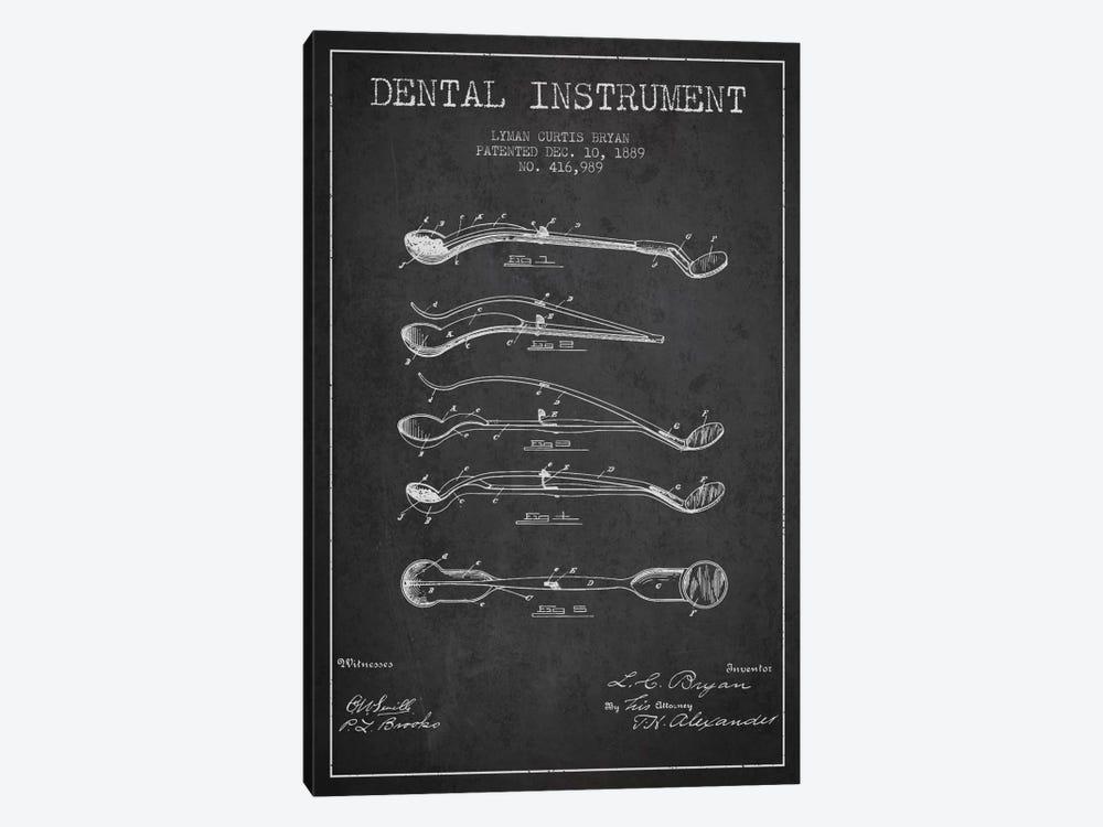Dental Instrument Charcoal Patent Blueprint by Aged Pixel 1-piece Canvas Art