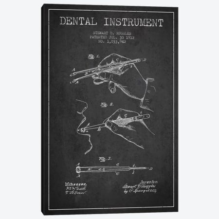 Dental Instrument Charcoal Patent Blueprint Canvas Print #ADP1719} by Aged Pixel Canvas Artwork