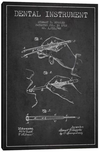 Dental Instrument Charcoal Patent Blueprint Canvas Print #ADP1719