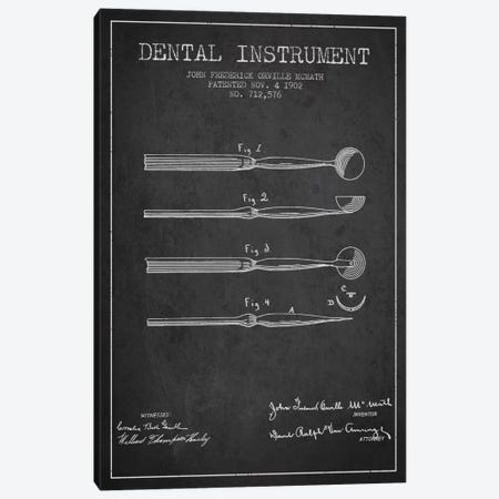Dental Instrument Charcoal Patent Blueprint Canvas Print #ADP1724} by Aged Pixel Canvas Wall Art