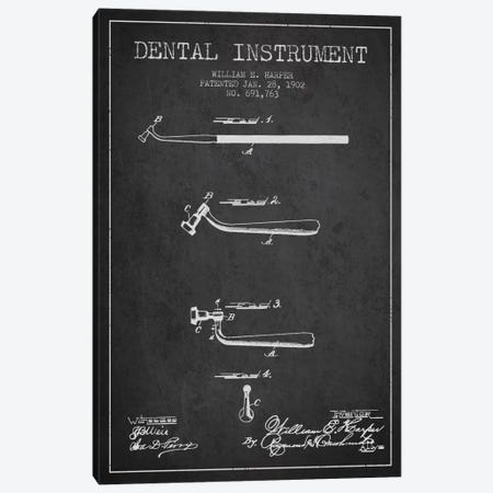 Dental Instrument Charcoal Patent Blueprint Canvas Print #ADP1729} by Aged Pixel Art Print