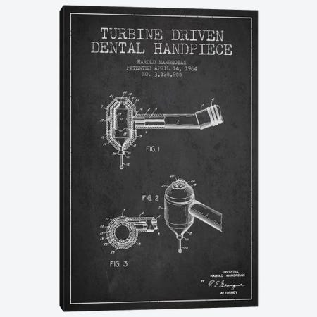 Turbine Drive Charcoal Patent Blueprint Canvas Print #ADP1739} by Aged Pixel Canvas Artwork