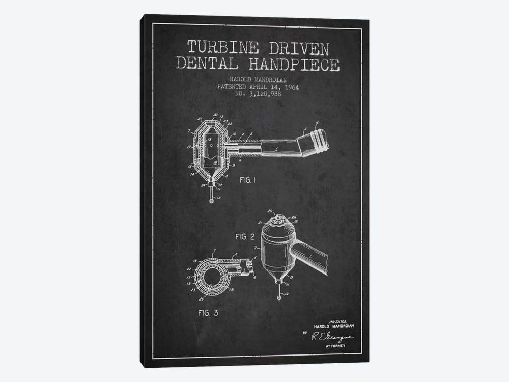 Turbine Drive Charcoal Patent Blueprint by Aged Pixel 1-piece Canvas Art Print
