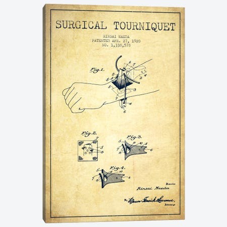 Surgical Tourniquet Vintage Patent Blueprint Canvas Print #ADP1768} by Aged Pixel Canvas Print