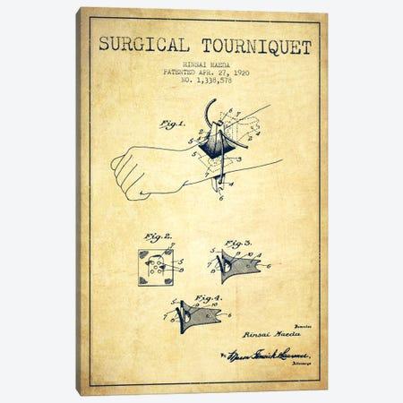 Surgical Tourniquet Vintage Patent Blueprint 3-Piece Canvas #ADP1768} by Aged Pixel Canvas Print
