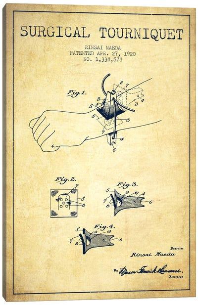 Surgical Tourniquet Vintage Patent Blueprint Canvas Art Print